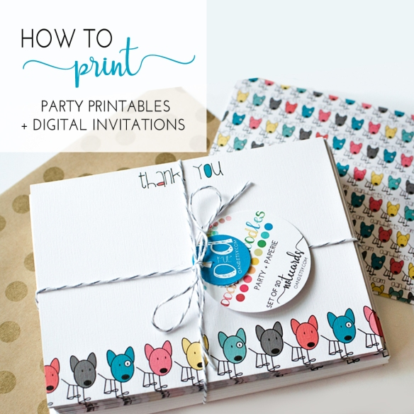 How Where To Print Digital Invitations Stationery Party