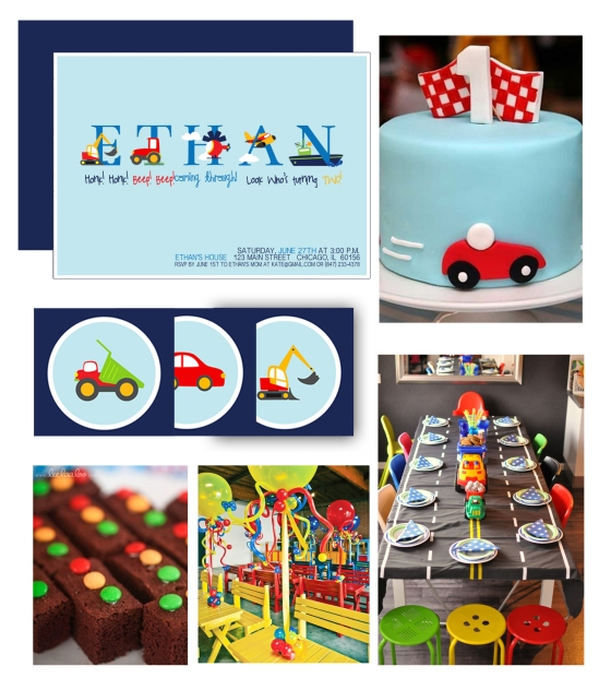 Transportation Birthday Party for Boys