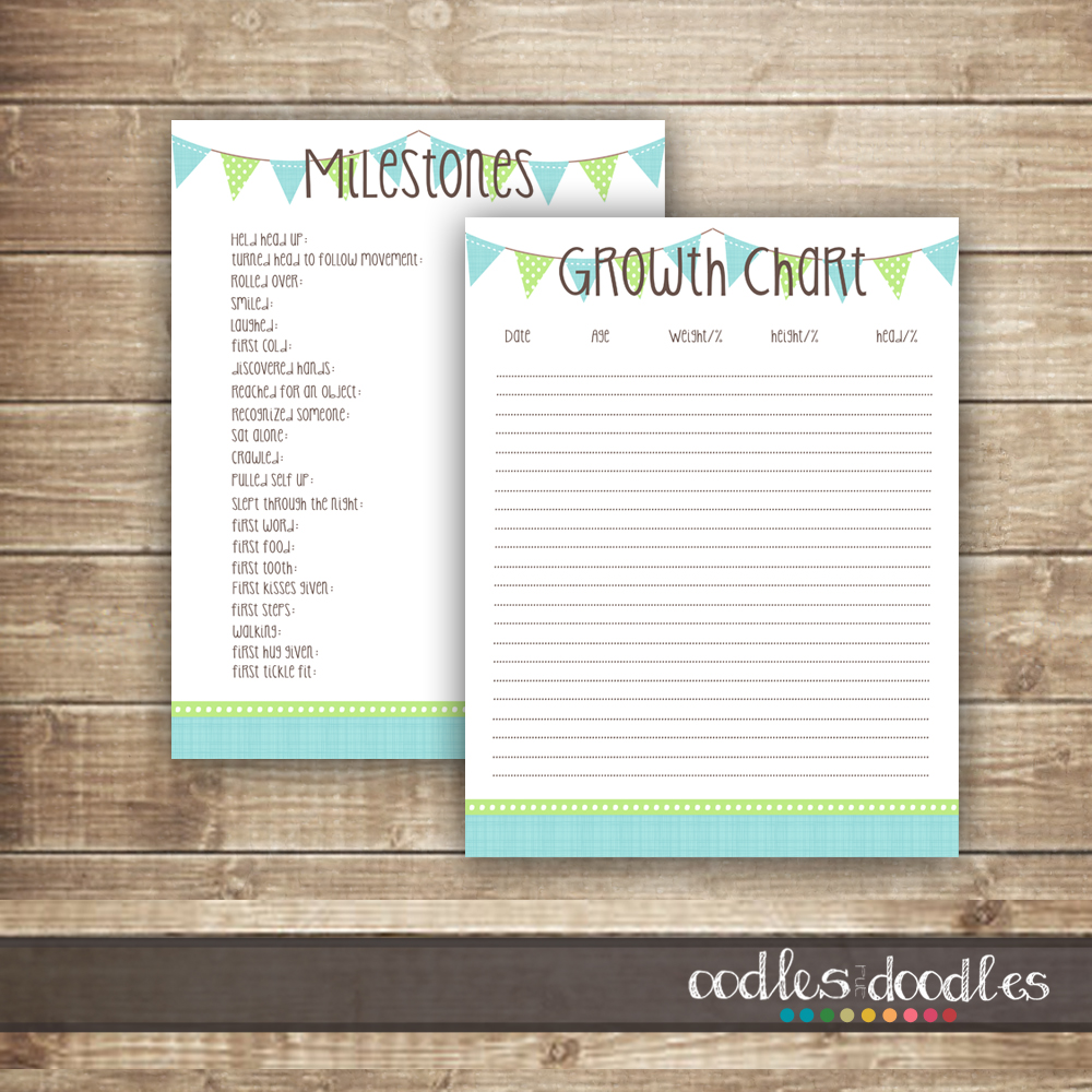 free printables: baby milestones & growth chart templates | oodles