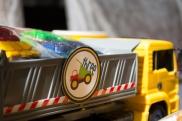Dump Truck Crayon Favors