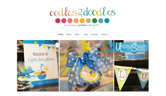 Oodles and Doodles Party Printables