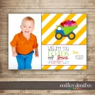 Dump Truck Valentines Photo Card