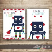 Printable Boy's Valentines by Oodles and Doodles, OandD