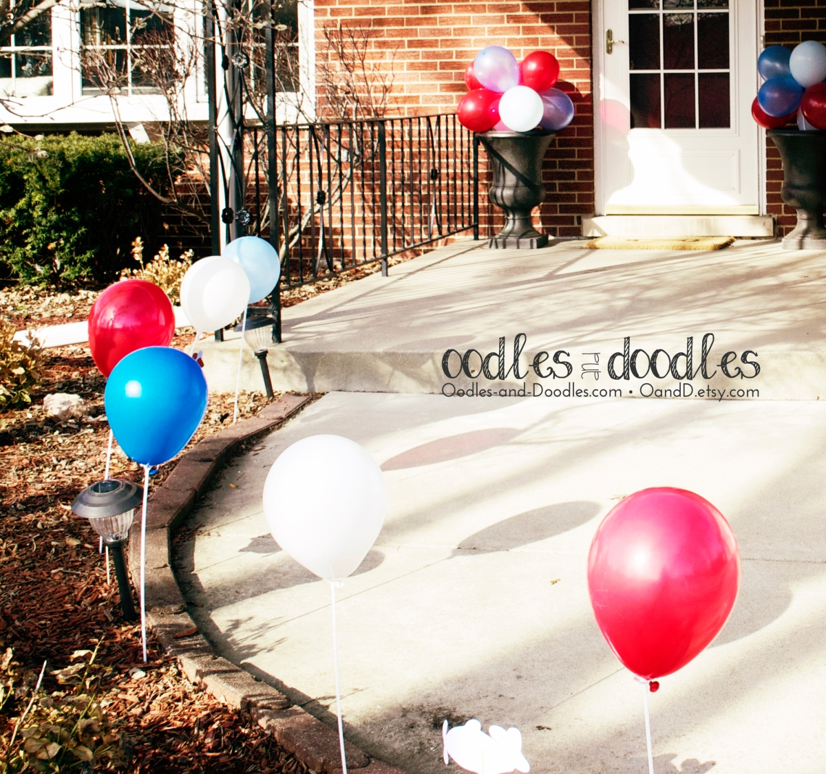 Birthday Party outdoor balloon decorations
