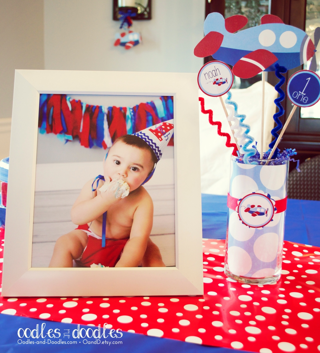 Boy's First Birthday Airplane Party by Oodles and Doodles, OandD