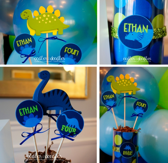DIY Dinosaur Centerpieces by Oodles and Doodles, OandD