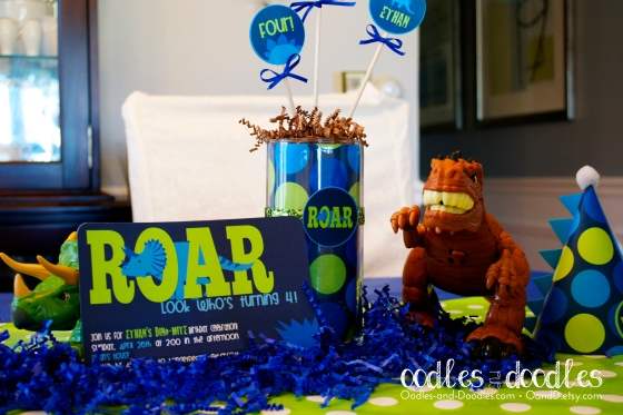 Boy's Dinosaur Birthday Party Decorations by Oodles and Doodles, OandD