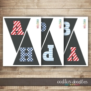 ONE First Birthday Party Printables Collection | Red, White & Blue | Oodles and Doodles, OandD