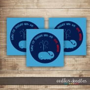 Splashy Whale Birthday Party Printables by Oodles and Doodles, OandD | Navy, Red, White & Blue