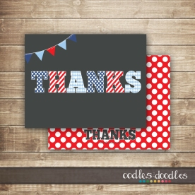 Thanks card red&blue