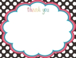 Free Printable Thank You Notes by Oodles and Doodles, OandD