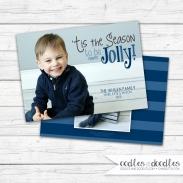 Xmas Card Holly Jolly