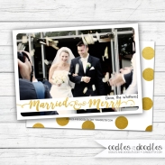 Xmas card married&merry photo