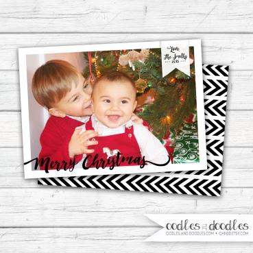 Xmas card simple photo p1
