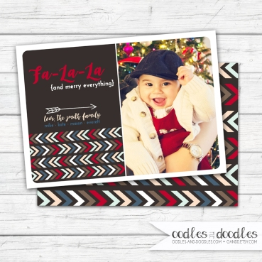 Xmas Card Tribal FaLaLa brown