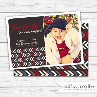 Xmas Card Tribal FaLaLa brown