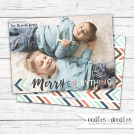 Xmas Card Tribal Merry Everything