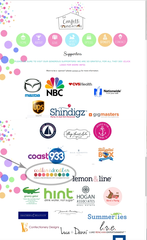 confetti foundation sponsors 2016