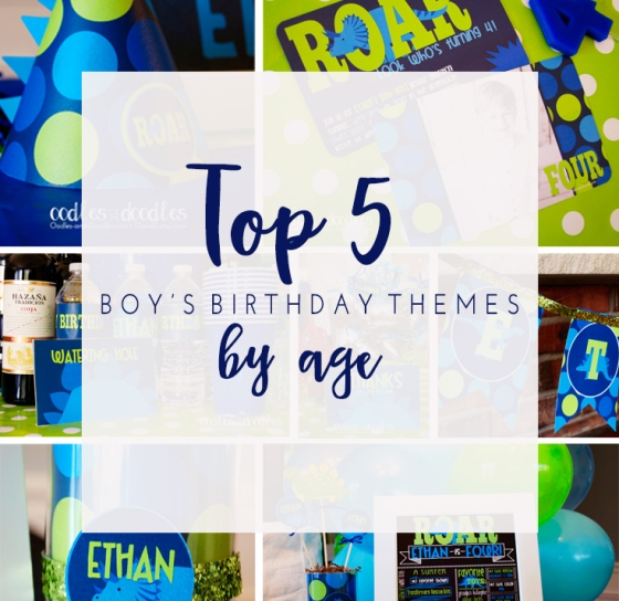 Top 5 Boys Bday Themes Graphic