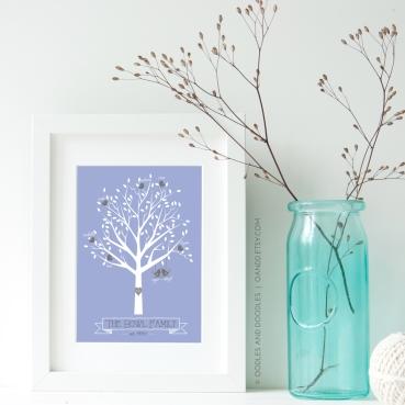 lilac tree print p1