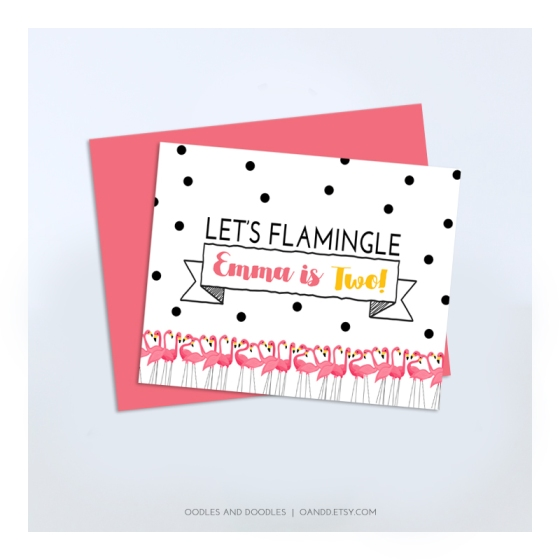 Flamingo bday sign - IG