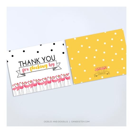 flamingo notecard IG